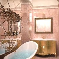 Ванная в стиле прованс – это красочная палитра луговых цветов, оттенков южного моря и неба Франции