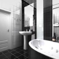 Истинная гармония контраста или черно-белая ванная комната как стильное дизайнерское решение