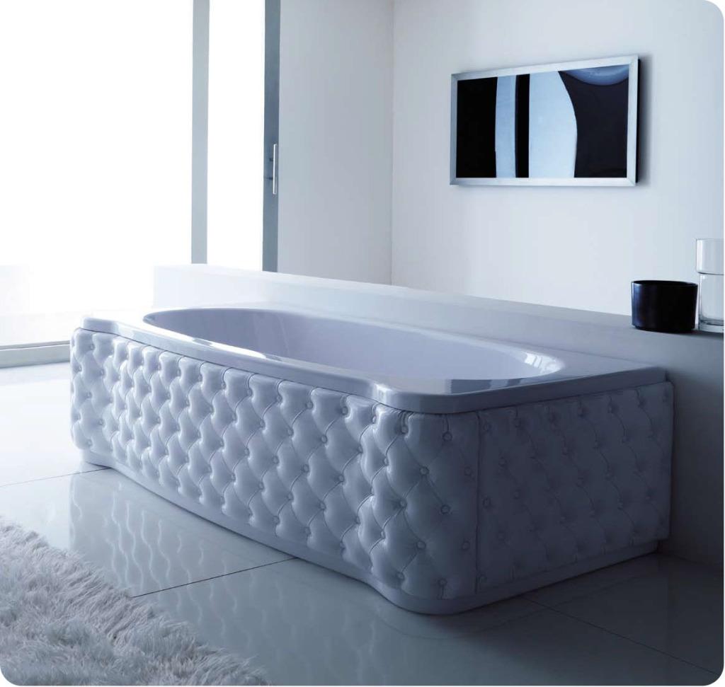 Декоративные панели придают роскошный вид даже стандартной ванне без дополнительных функций