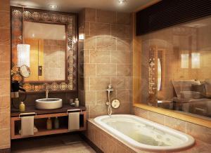 Использование зеркал в ванной помогает значительно увеличить зрительное пространство комнаты