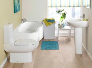 Стандартный вид совмещенной ванной комнаты после перепланировки