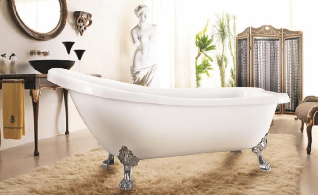 Ванна, оформленная в стиле модерн или ретро, может стать украшением комнаты