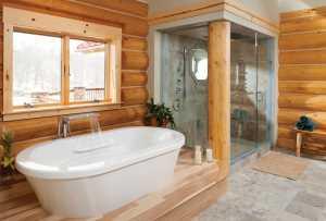 Душевая кабина может совмещать в себе функции парной и сауны, при этом место для полноценной ванной тоже найдется