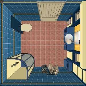 Организация пространства зависит от формы помещения, расположения дверей и наличия сантехники