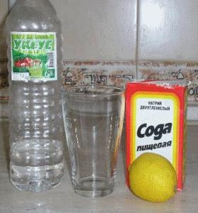 Сода, лимон и уксус позволяют сохранить чистоту ванны с минимальными финансовыми затратами