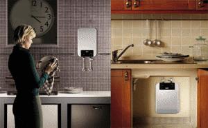 Если позволяет энергосеть, установка двух небольших водонагревателей вполне возможна