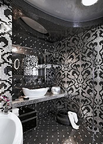 Отделка мозаикой способна сделать интерьер небольшой ванной оригинальным и изысканным