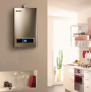 Стильно оформленная модель водонагревателя отлично впишется даже в изысканный интерьер