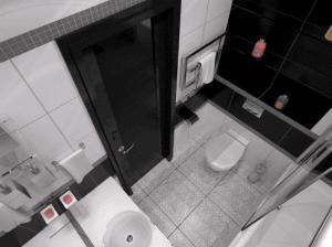 Темная и светлая плитка требуют очень тщательного ухода – впечатление может испортить даже засохшая капля воды