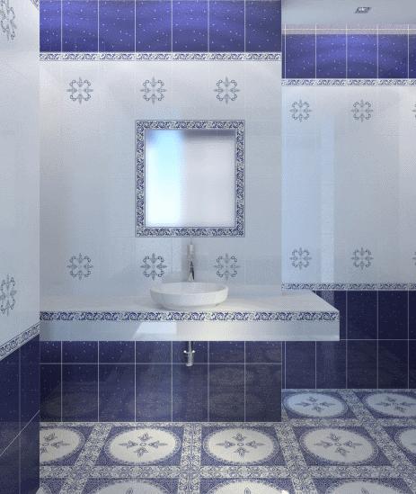 Гармоничное сочетание настенной и напольной плитки – залог безупречного интерьера